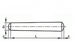 Kolík kuželový DIN 1B 2x22
