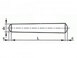 Kolík kuželový DIN 1B 4x45