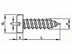 Šroub samořezný s drážkou DIN 7971C 2,2x9,5 pozink
