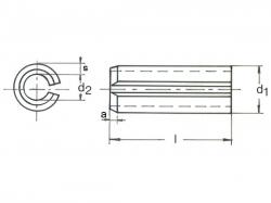 Kolík pružný DIN 1481-2x8