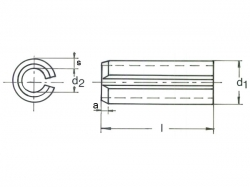 Kolík pružný DIN 1481-2x22
