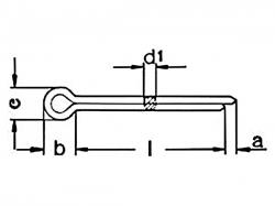 Závlačka DIN 94-1,2x32 pozink